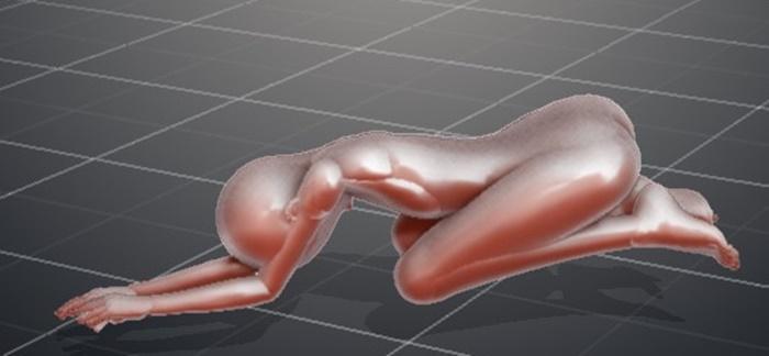 美尻を手に入れるヒップアップエクササイズ!⑦お尻をかかとに乗せて、肘とおでこを床に着ける