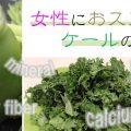 青汁の原料「ケール」の女性にうれしい栄養成分