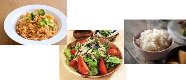 フリーカを使った料理(リゾット、炊き込み、サラダ)