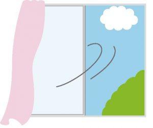 窓から換気