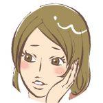 悩む女性の表情