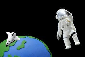 宇宙飛行士のクレイ人形